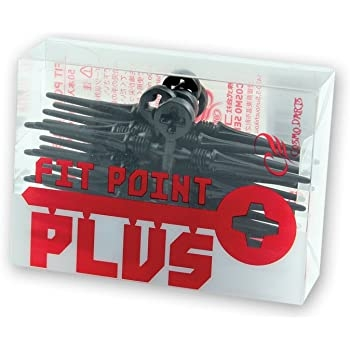 Cosmo Darts - Fit Point Plus - 50er Pack ( Schwarz )